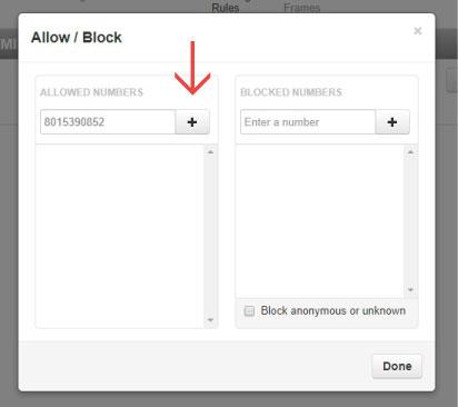 allow block